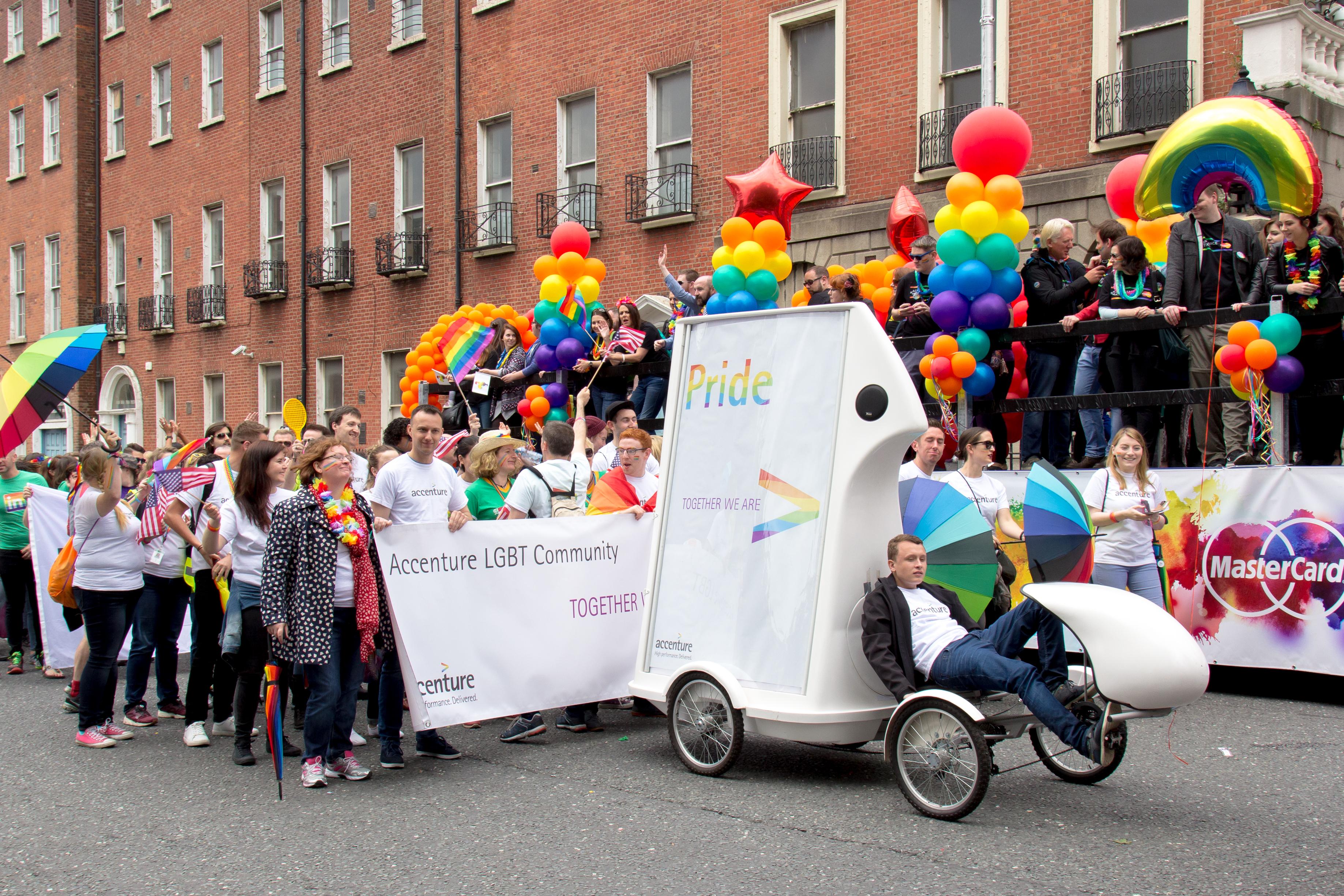 pride parade, eco advertising, adbikes