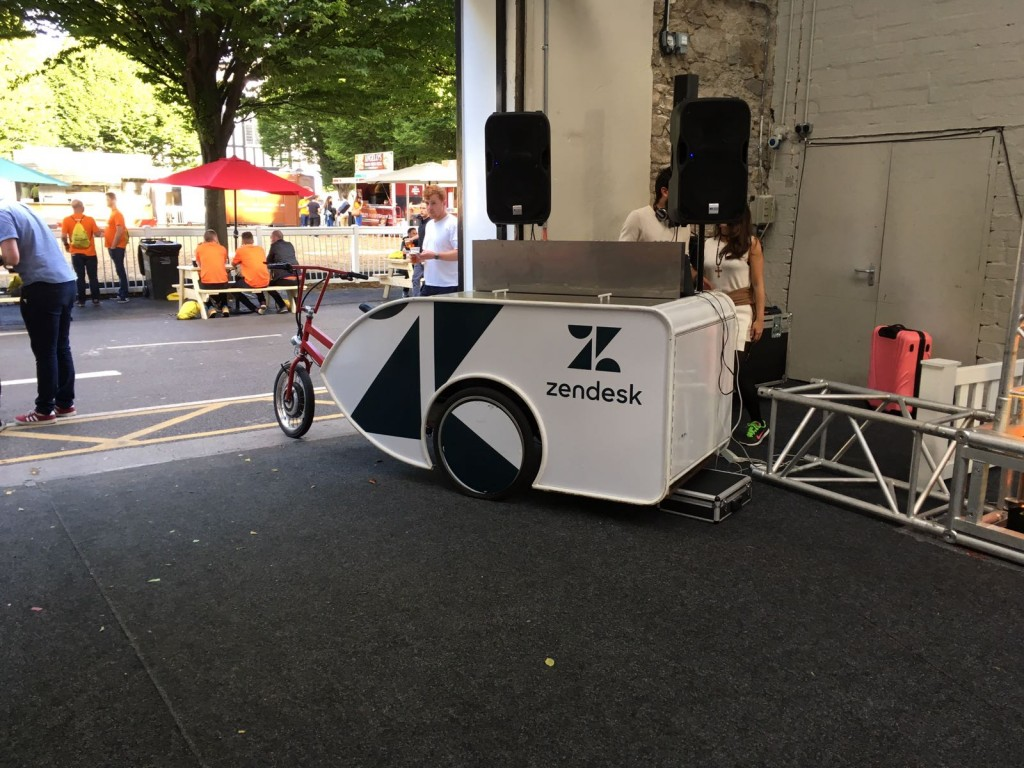 A beat bike set up at Techies4TempleStreet